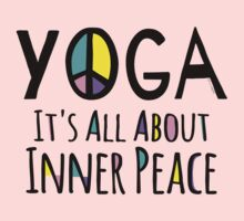 Yoga It's All About Inner Peace Kids Tee