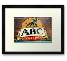ABC Stout © Framed Print