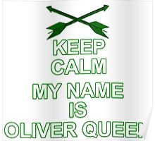 My Name is Oliver Queen Poster