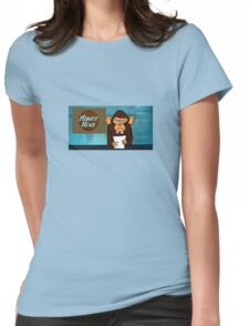 Monkey News Womens Fitted T-Shirt