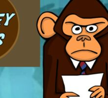 Monkey News Sticker