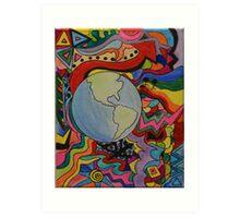 Explore the World Art Print