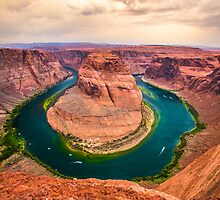On The Edge - Horseshoe Bend by colorplayer