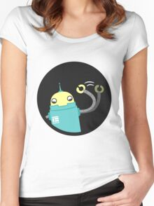 Droid says hello :) Women's Fitted Scoop T-Shirt