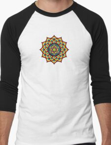 Flower of Life Metatron's Cube Men's Baseball ¾ T-Shirt