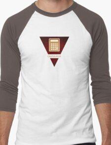 symbols: the calculator Men's Baseball ¾ T-Shirt