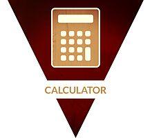 symbols: the calculator Photographic Print