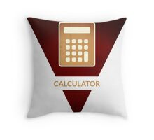 symbols: the calculator Throw Pillow