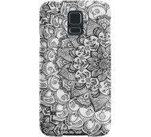 Shades of Grey - mono floral doodle Samsung Galaxy Case/Skin