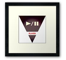symbols: the player Framed Print