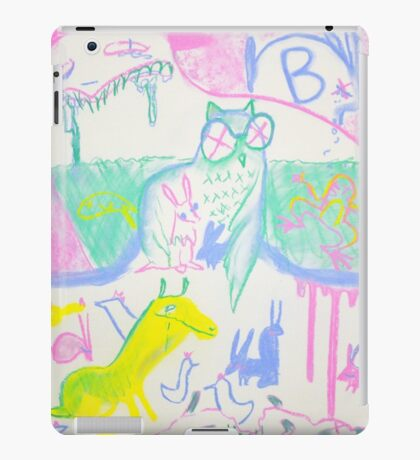 Pastel Roadkill Party with Owl and friends!  THE AFTERPARTY iPad Case/Skin