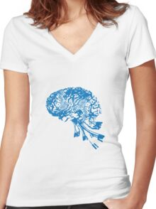 Computer Brain Women's Fitted V-Neck T-Shirt