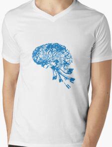 Computer Brain Mens V-Neck T-Shirt