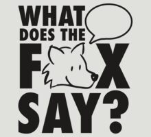 What does the fox say? by nektarinchen