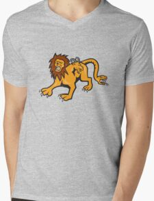 Chimera Attacking Front Cartoon Mens V-Neck T-Shirt