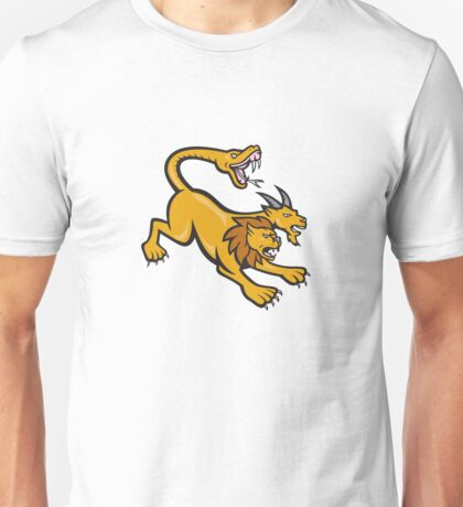 Chimera Attacking Side Cartoon Unisex T-Shirt