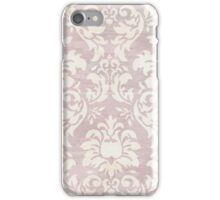 Distressed Beige Damask Pattern Cover iPhone Case/Skin