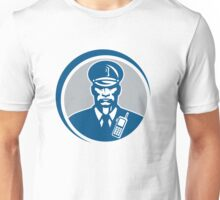 Security Guard Police Officer Radio Circle Unisex T-Shirt