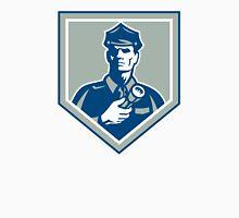 Security Guard Flashlight Shield Retro Unisex T-Shirt