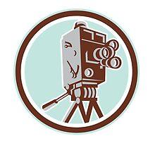 Vintage Movie Film Camera Retro by patrimonio