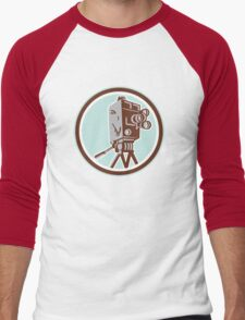 Vintage Movie Film Camera Retro Men's Baseball ¾ T-Shirt