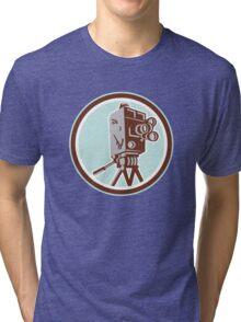 Vintage Movie Film Camera Retro Tri-blend T-Shirt