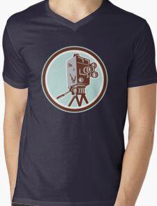 Vintage Movie Film Camera Retro Mens V-Neck T-Shirt