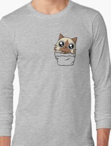 Felyne in the pocket!  Long Sleeve T-Shirt