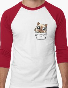Felyne in the pocket!  Men's Baseball ¾ T-Shirt