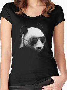 Aviator Panda Bear Women's Fitted Scoop T-Shirt