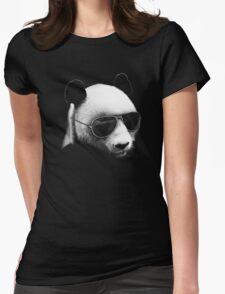 Aviator Panda Bear Womens Fitted T-Shirt
