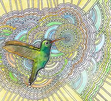 Hummingbird Drawing Meditation by kpdesign