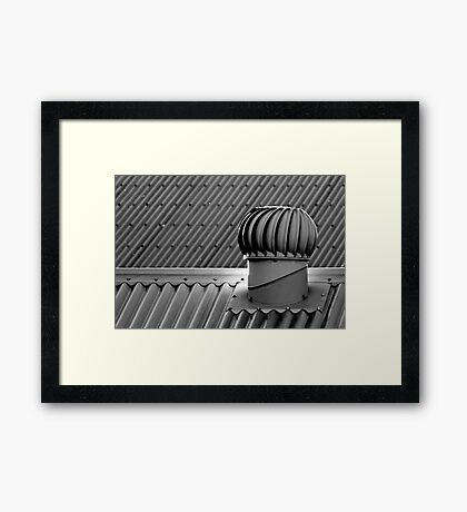 Whirligig on a hot tin roof Framed Print