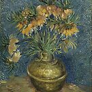 Van Gogh - Imperial Fritillaries in a Copper Vase by TilenHrovatic