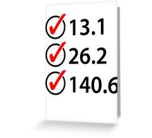 Marathon Triathlon Checklist Greeting Card