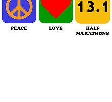 Peace Love Half Marathons by kwg2200