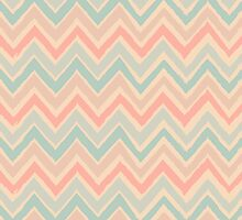 Chevron Pattern in Pastel Pink and Blue by Iveta Angelova