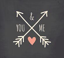 Chalkboard Arrows & Heart by Iveta Angelova