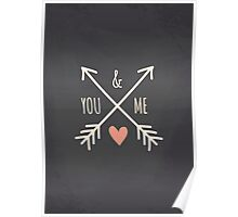 Chalkboard Arrows & Heart Poster