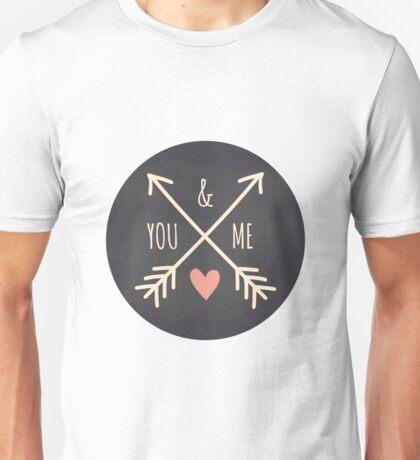 Chalkboard Arrows & Heart Unisex T-Shirt