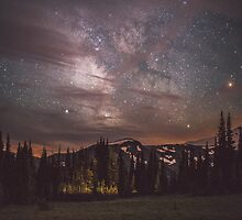 Mt Rainier & Milky Way by charliereynolds