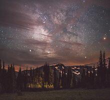 Mt Rainier & Milky Way by charliereynolds