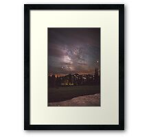 Mt Rainier & Milky Way Framed Print