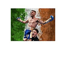 Carl Frampton Boxing World Champion Irish Flag Photographic Print