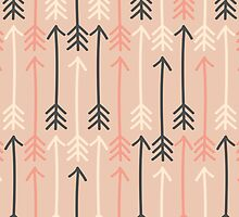 Arrows Pastel Colors Pattern by Iveta Angelova