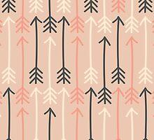 Arrows Pastel Colors Pattern by Iveta Angelova