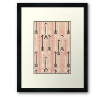 Arrows Pastel Colors Pattern Framed Print