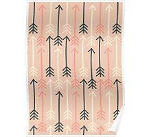 Arrows Pastel Colors Pattern Poster