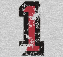 The Number One - No. 1 (two-color) red by theshirtshops