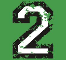 The Number Two - No. 2 (two-color) white by theshirtshops